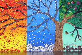 Fresque des 4 Saisons École Jean Lurçat
