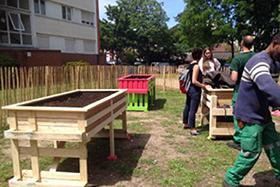 Jardinières partagées Cité Cachin